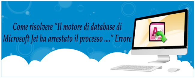 Problema del database di Microsoft Jet Engine