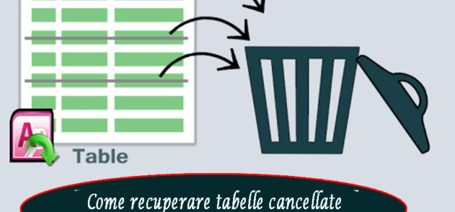 Come recuperare tabelle cancellate dal database di Access
