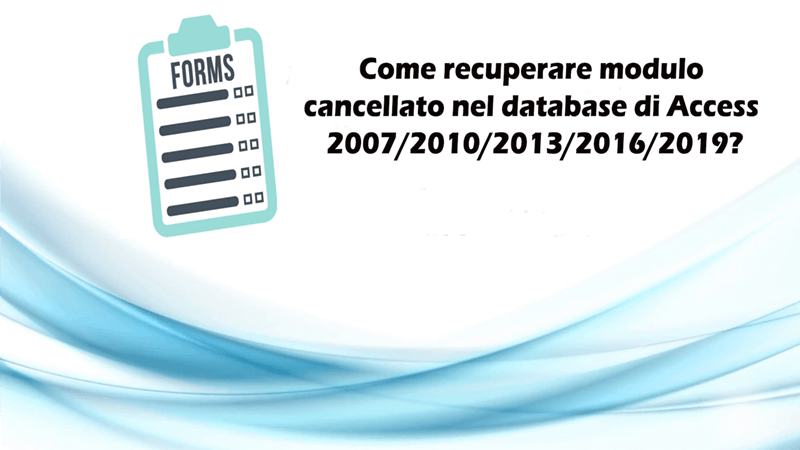 MS Access forme recupero